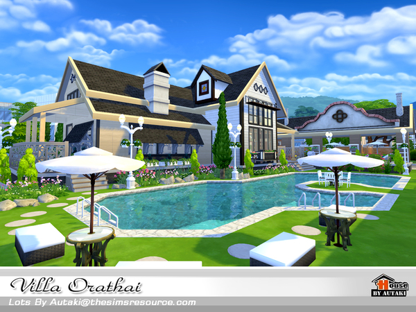 Sims 4 Villa Orathai by autaki at TSR