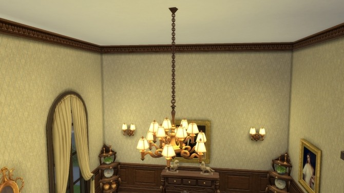 Sims 4 Long John Buttercups Chandelier Plus Edition by TheJim07 at Mod The Sims