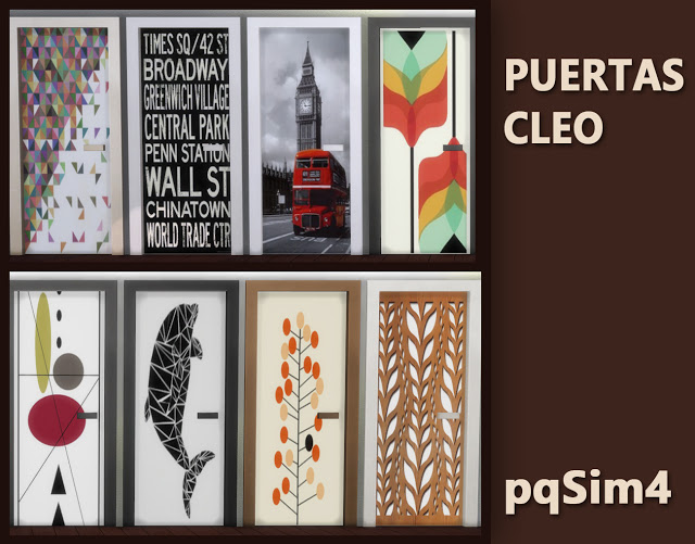 Sims 4 Cleo doors by Mary Jiménez at pqSims4