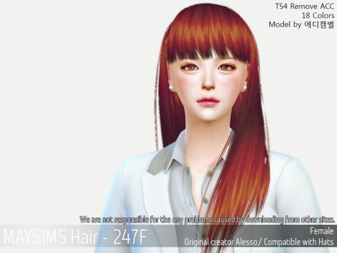 Sims 4 Hair 247F (Alesso) at May Sims