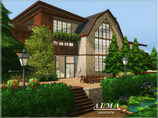 Alma house by Danuta720 at TSR image 67 Sims 4 Updates