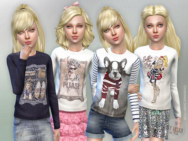 Sims 4 Designer Shirt P09 by lillka at TSR