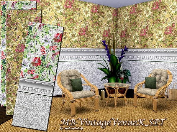 Sims 4 MB Vintage VenueI K set by matomibotaki at TSR
