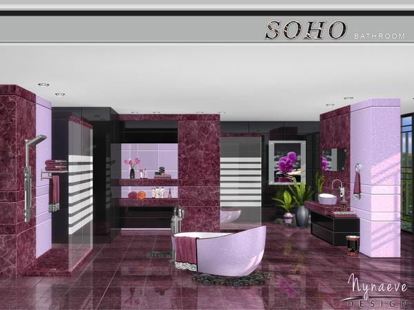 Sims 4 Soho Bathroom by NynaeveDesign at TSR