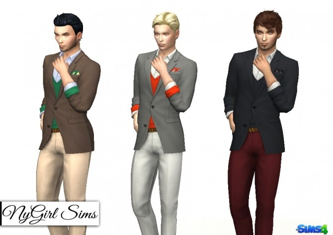 Sims 4 Fitted Suit with Sweater at NyGirl Sims