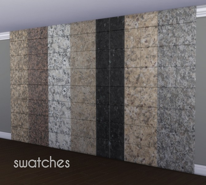 Glossy Granite Wall Tiles By Madhox At Mod The Sims 187 Sims