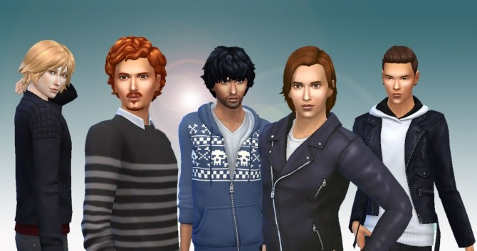 Sims 4 Male Hair Pack 2 at My Stuff