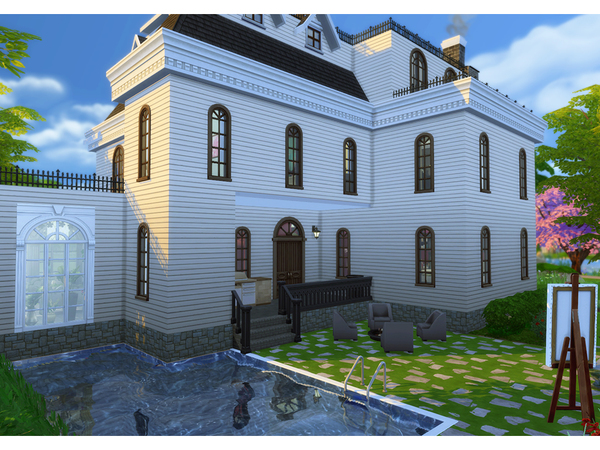 Sims 4 The Addams Family Manor by Degera at TSR