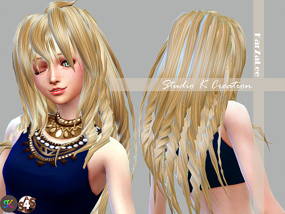 Sims 4 Matoka animate hair 70 at Studio K Creation