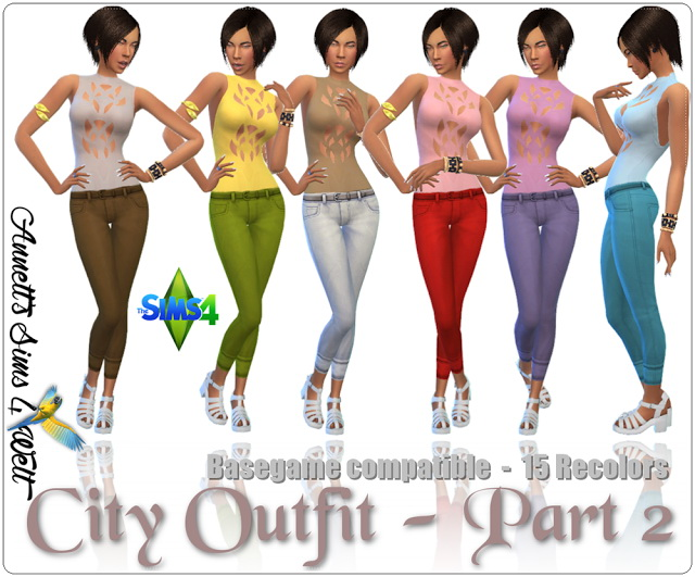 Sims 4 City Outfit Part 2 at Annett's Sims 4 Welt