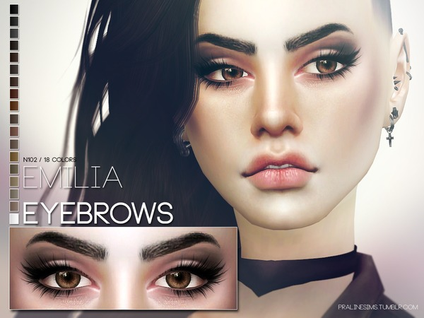 Emilia Eyebrows N102 by Pralinesims at TSR image 719 Sims 4 Updates