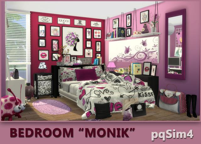 Monik bedroom by Mary Jiménez at pqSims4 image 728 Sims 4 Updates