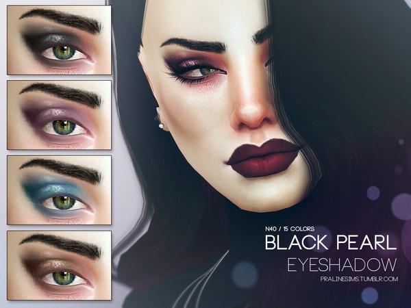 Black Pearl Eyeshadow N40 By Pralinesims At Tsr 187 Sims 4