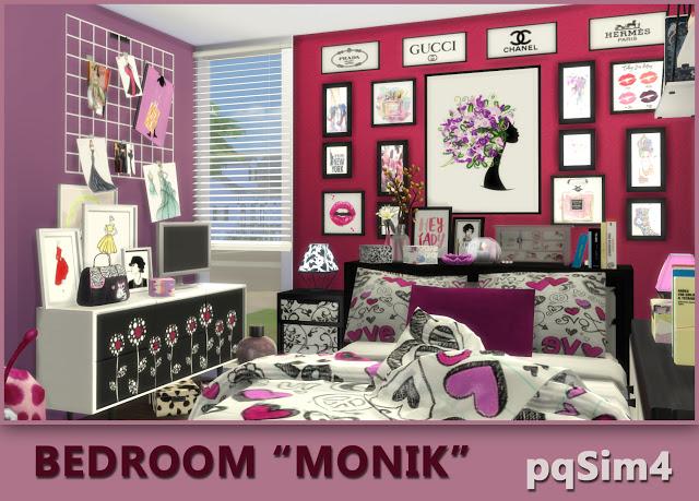 Monik bedroom by Mary Jiménez at pqSims4 image 737 Sims 4 Updates