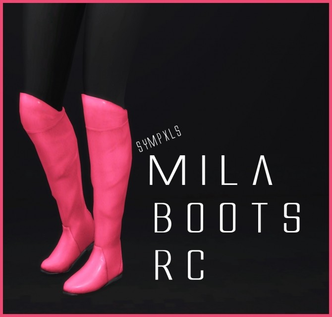 Mila Boots RC by Sympxls at SimsWorkshop image 7512 670x641 Sims 4 Updates