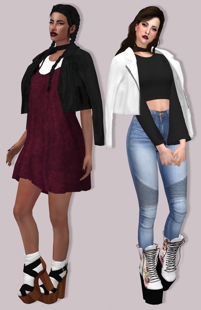Leather Jacket Acc at Lumy Sims image 7514 648x1000 Sims 4 Updates
