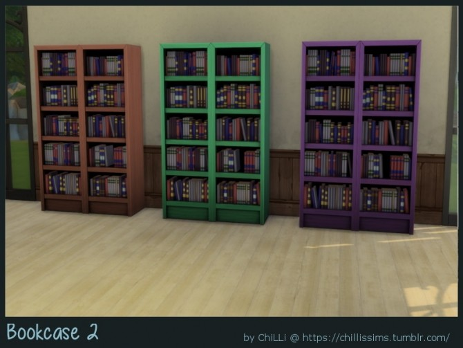 Sims 4 Bookcase 2 at ChiLLis Sims