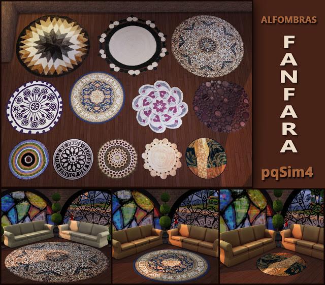 Sims 4 Fanfara carpets by Mary Jiménez at pqSims4
