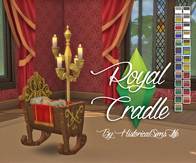 Royal Cradle Conversion from The Sims Medieval by Anni K at Historical Sims Life image 7614 Sims 4 Updates