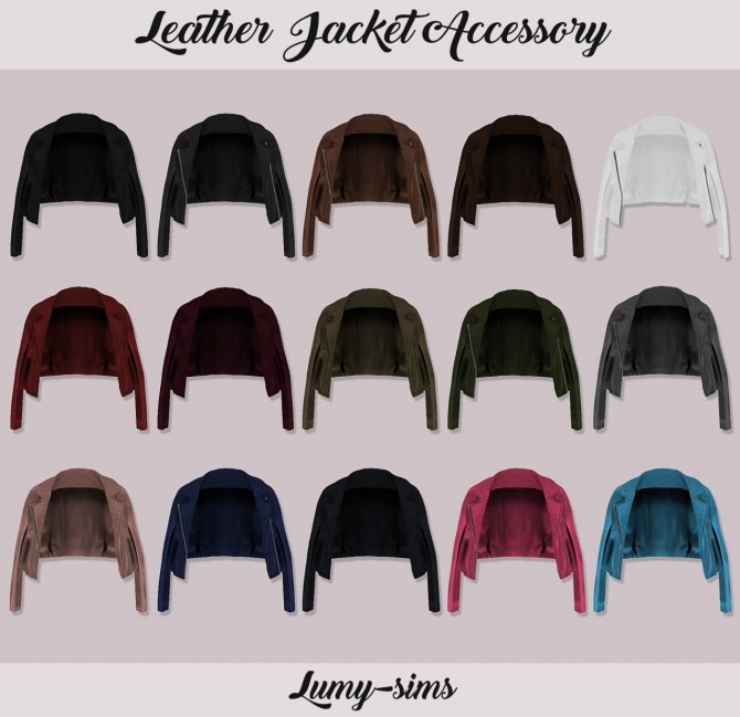 Leather Jacket Acc at Lumy Sims image 7615 670x649 Sims 4 Updates