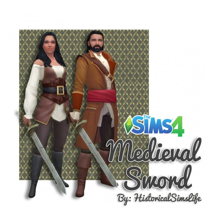 Medieval Sword by Anni K at Historical Sims Life image 777 670x678 Sims 4 Updates