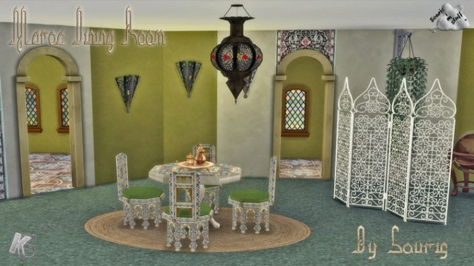 Sims 4 MAROC dining room by Souris at Khany Sims