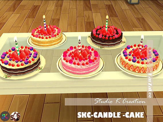 SKC Candle cake at Studio K Creation image 7915 Sims 4 Updates