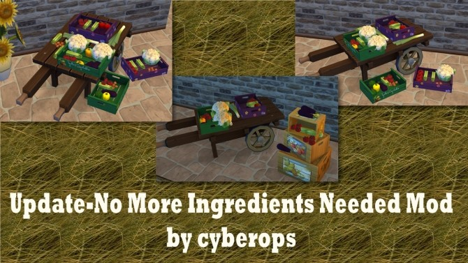 Sims 4 Update No More ingredients needed cyberopss mod by catalina 45 at Mod The Sims