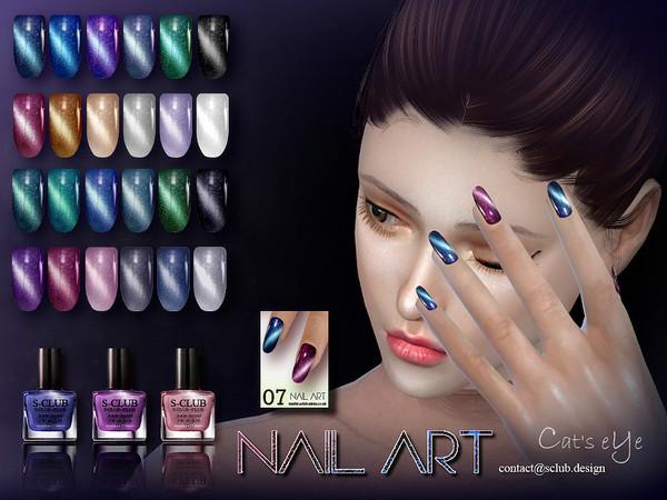 Nail Art N07 by S Club LL at TSR image 812 Sims 4 Updates