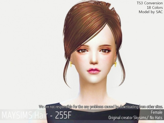 Sims 4 Hair 255F (Skysims) at May Sims