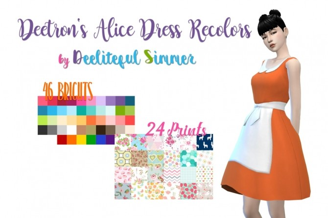 Deetrons Alice Dress Recolors at Deeliteful Simmer image 8216 670x446 Sims 4 Updates