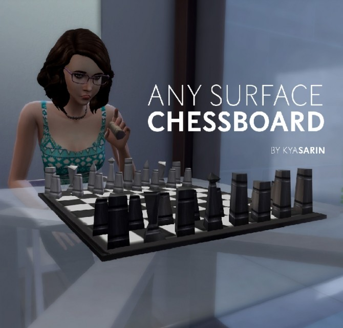 Any Surface Chessboard by Kya Sarin at Mod The Sims image 83 670x641 Sims 4 Updates