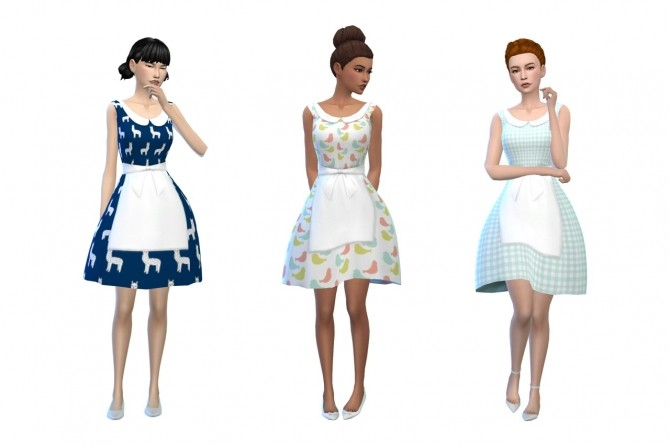 Deetrons Alice Dress Recolors at Deeliteful Simmer image 8314 670x446 Sims 4 Updates