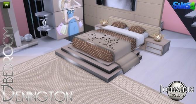 Sims 4 Denington bedroom at Jomsims Creations