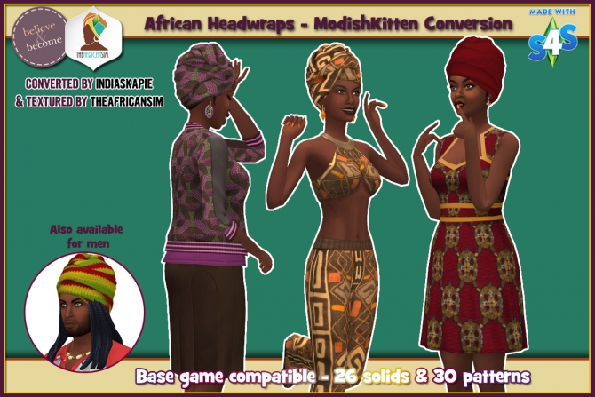 Conversion Of Modishkitten S African Headwrap At The