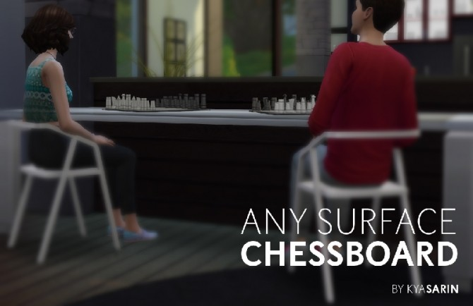 Any Surface Chessboard by Kya Sarin at Mod The Sims image 84 670x434 Sims 4 Updates