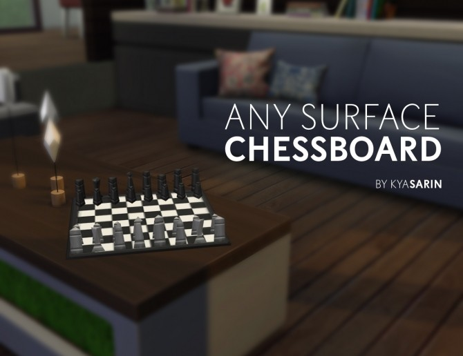 Any Surface Chessboard by Kya Sarin at Mod The Sims image 85 670x516 Sims 4 Updates