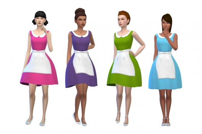 Deetrons Alice Dress Recolors at Deeliteful Simmer image 8513 670x446 Sims 4 Updates