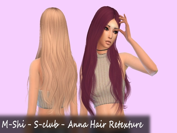 Sims 4 S clubs Anna Hair Retexture by mikerashi at TSR