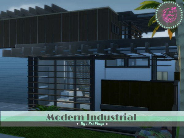 Sims 4 Modern Industrial Home by PxiPlays at TSR