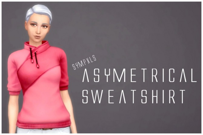 Sims 4 Asymmetrical Sweatshirt by Sympxls at SimsWorkshop