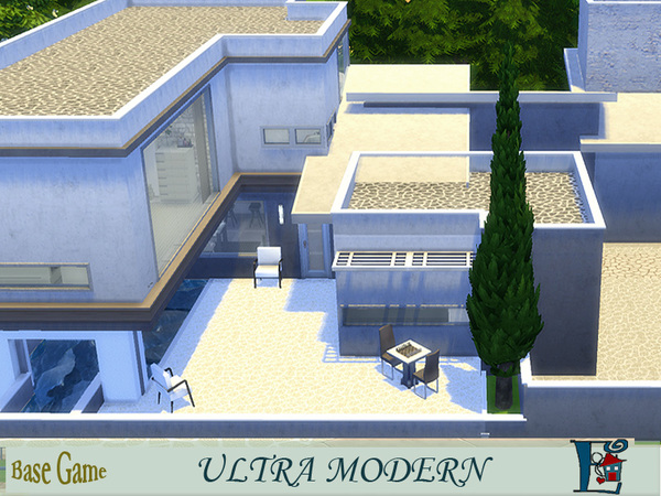 Sims 4 Ultra modern house by evi at TSR