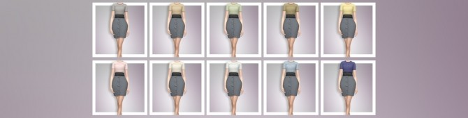 EP03 High Waisted Skirt With Tee at Busted Pixels image 941 670x170 Sims 4 Updates