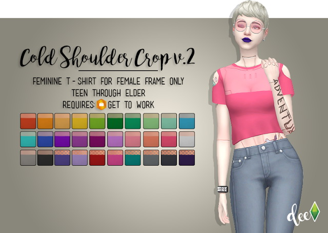 Long Sleeved Accessor-Top at Deetron Sims » Sims 4 Updates