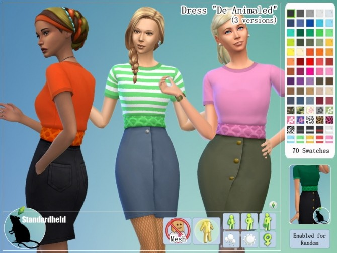 Sims 4 Dress De Animaled by Standardheld at SimsWorkshop