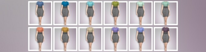 EP03 High Waisted Skirt With Tee at Busted Pixels image 961 670x170 Sims 4 Updates