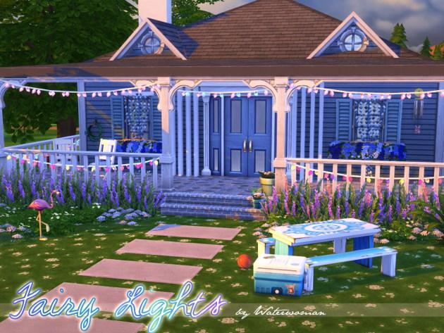Sims 4 Fairy Lights by Waterwoman at Akisima
