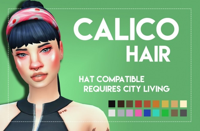 Sims 4 Calico Hair Onyx Variant by Weepingsimmer at SimsWorkshop