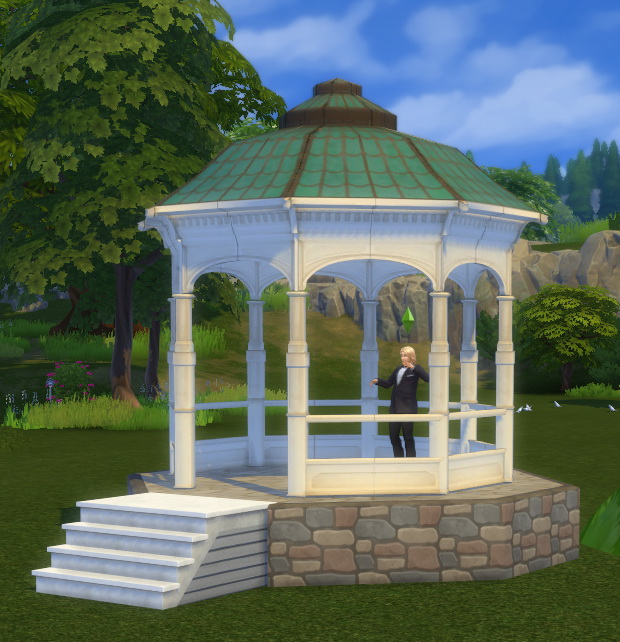 Bioshock Infinite Gazebo as a Wedding Arch by BigUglyHag at SimsWorkshop image 9714 Sims 4 Updates