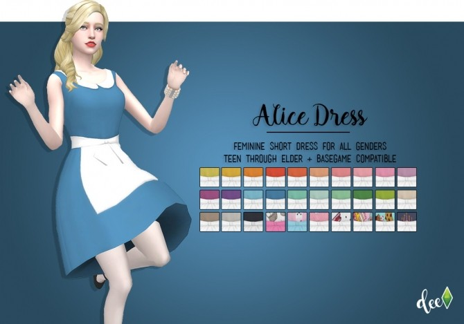 Alice Dress at Deetron Sims image 9811 670x469 Sims 4 Updates